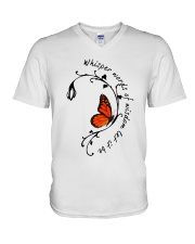 Whisper Words Of Wisdom V-Neck T-Shirt tile