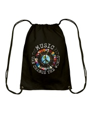 Music Can Change The World Drawstring Bag thumbnail