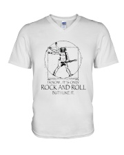 Only Rock And Roll V-Neck T-Shirt thumbnail