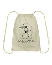 Only Rock And Roll Drawstring Bag thumbnail