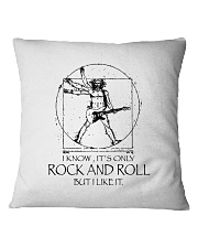 Only Rock And Roll Square Pillowcase thumbnail