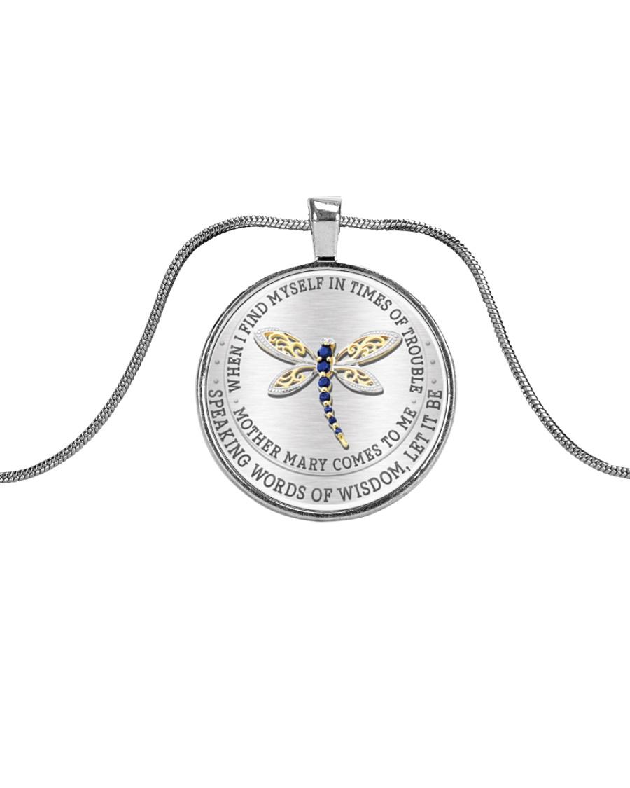 Speaking Words Of Wisdom Metallic Circle Necklace