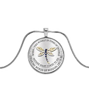 Speaking Words Of Wisdom Metallic Circle Necklace front