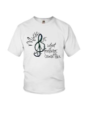 Music Is What Feelings Sound Like Hippie  Youth T-Shirt thumbnail