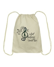 Music Is What Feelings Sound Like Hippie  Drawstring Bag front