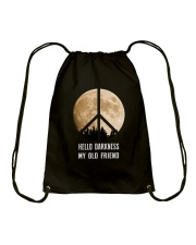 Hello Darkness - My Old Friend Drawstring Bag tile