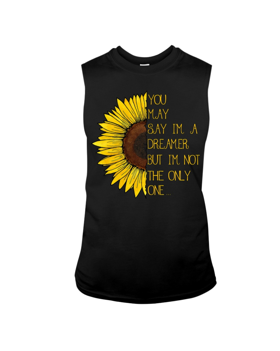 You May Say I'm A Dreamer Sun Flower Hippie Sleeveless Tee