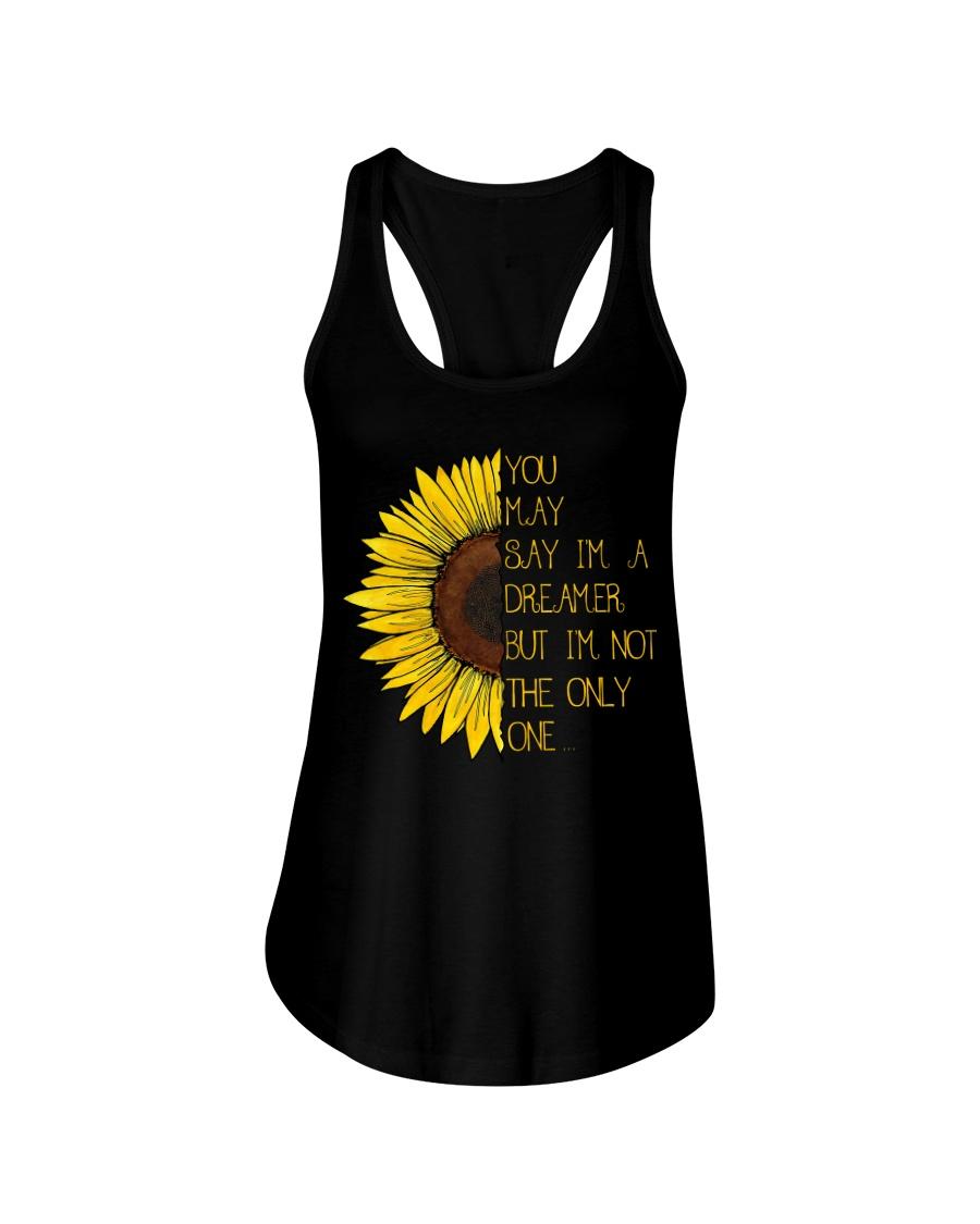 You May Say I'm A Dreamer Sun Flower Hippie Ladies Flowy Tank