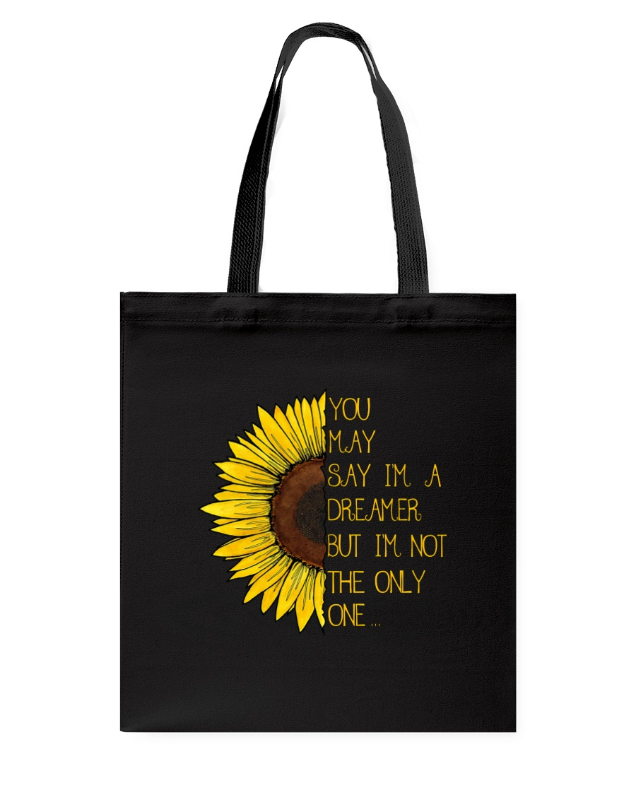 You May Say I'm A Dreamer Sun Flower Hippie Tote Bag