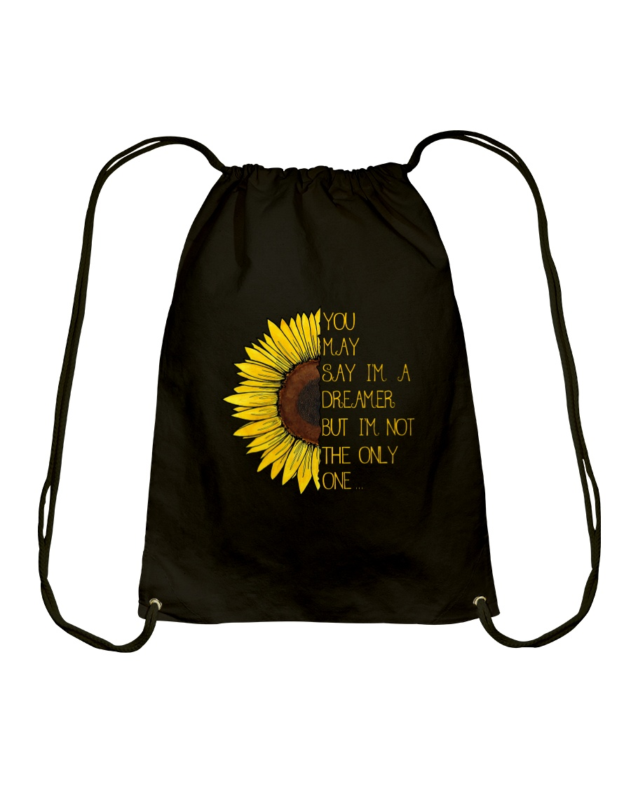 You May Say I'm A Dreamer Sun Flower Hippie Drawstring Bag