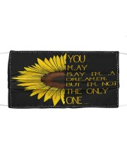 You May Say I'm A Dreamer Sun Flower Hippie Cloth face mask thumbnail