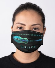 Whisper words of wisdom Cloth face mask aos-face-mask-lifestyle-01
