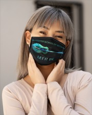 Whisper words of wisdom Cloth face mask aos-face-mask-lifestyle-17