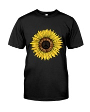 I Got A Peacful Easy Feeling Sun Flower Hippie  Classic T-Shirt thumbnail