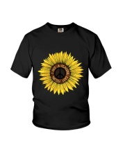 I Got A Peacful Easy Feeling Sun Flower Hippie  Youth T-Shirt front