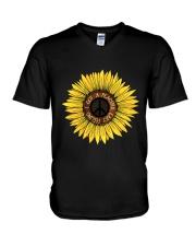 I Got A Peacful Easy Feeling Sun Flower Hippie  V-Neck T-Shirt thumbnail
