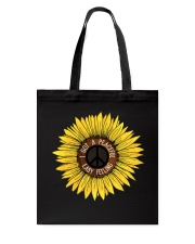 I Got A Peacful Easy Feeling Sun Flower Hippie  Tote Bag thumbnail