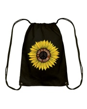 I Got A Peacful Easy Feeling Sun Flower Hippie  Drawstring Bag thumbnail