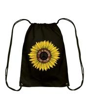 I Got A Peacful Easy Feeling Sun Flower Hippie  Drawstring Bag thumbnail