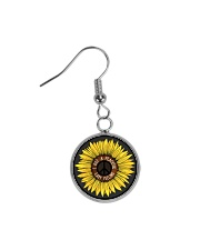 I Got A Peacful Easy Feeling Sun Flower Hippie  Circle Earrings thumbnail