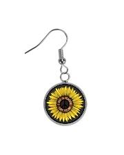 I Got A Peacful Easy Feeling Sun Flower Hippie  Circle Earrings thumbnail
