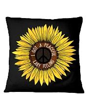 I Got A Peacful Easy Feeling Sun Flower Hippie  Square Pillowcase thumbnail