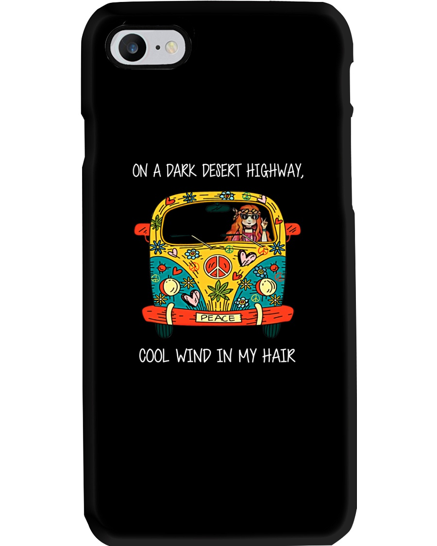 On A Dark Desert Highway Phone Case
