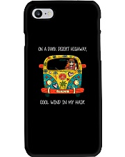 On A Dark Desert Highway Phone Case tile