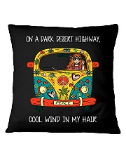 On A Dark Desert Highway Square Pillowcase thumbnail