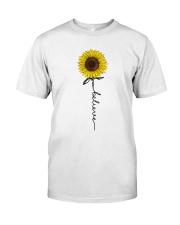 Flowers Believe Hippie Classic T-Shirt thumbnail