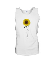 Flowers Believe Hippie Unisex Tank tile