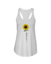 Flowers Believe Hippie Ladies Flowy Tank thumbnail