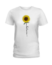 Flowers Believe Hippie Ladies T-Shirt thumbnail