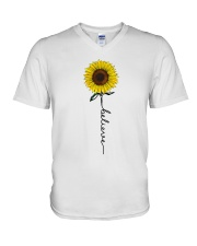 Flowers Believe Hippie V-Neck T-Shirt tile