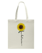 Flowers Believe Hippie Tote Bag thumbnail