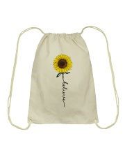 Flowers Believe Hippie Drawstring Bag tile