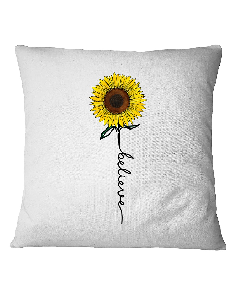 Flowers Believe Hippie Square Pillowcase