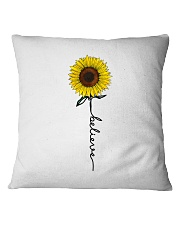 Flowers Believe Hippie Square Pillowcase front