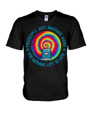 Freedom's Just Another World V-Neck T-Shirt thumbnail