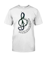 Rock And Roll Peace Love Music Classic T-Shirt front