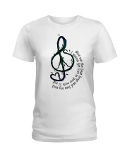 Rock And Roll Peace Love Music Ladies T-Shirt thumbnail