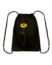 Here Comes The Sun Flower Drawstring Bag thumbnail