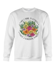 Myself What A Wonderful World Crewneck Sweatshirt thumbnail