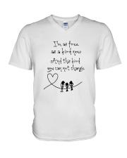 I Am As Freedom As A Bird 8 V-Neck T-Shirt thumbnail