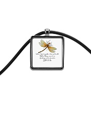 Speaking Words Of Wisdom Cord Rectangle Necklace thumbnail