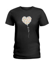 Let It Be Flower Music Hippie  Ladies T-Shirt thumbnail