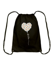 Let It Be Flower Music Hippie  Drawstring Bag thumbnail