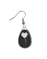 Let It Be Flower Music Hippie  Teardrop Earrings thumbnail