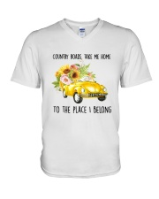 Country Road Take Me Home V-Neck T-Shirt tile