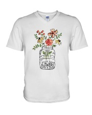 I Must Have Flowers Always And Always Hippie  V-Neck T-Shirt thumbnail